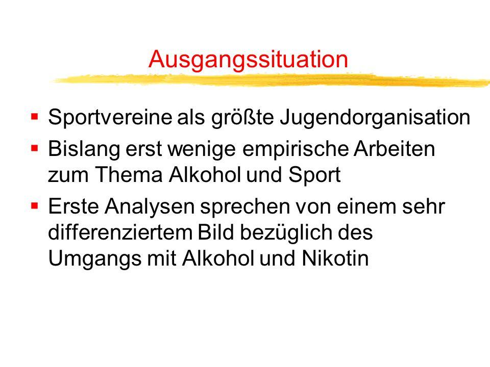 Wie viel Alkohol trinken Sportvereinsmitglieder wirklich? Welche Moderatorfunktion übt der Sportverein tatsächlich aus?