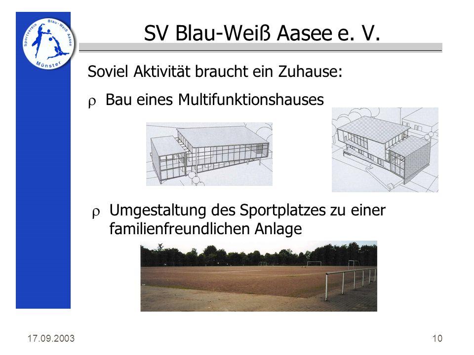 17.09.200310 SV Blau-Weiß Aasee e. V.