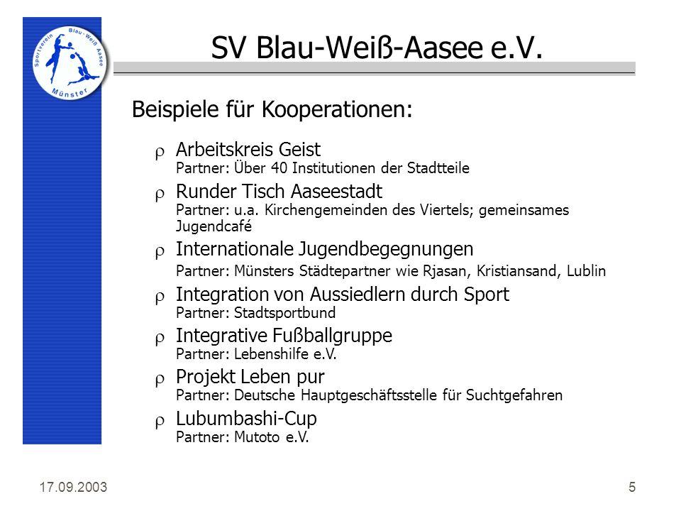 17.09.20035 SV Blau-Weiß-Aasee e.V.