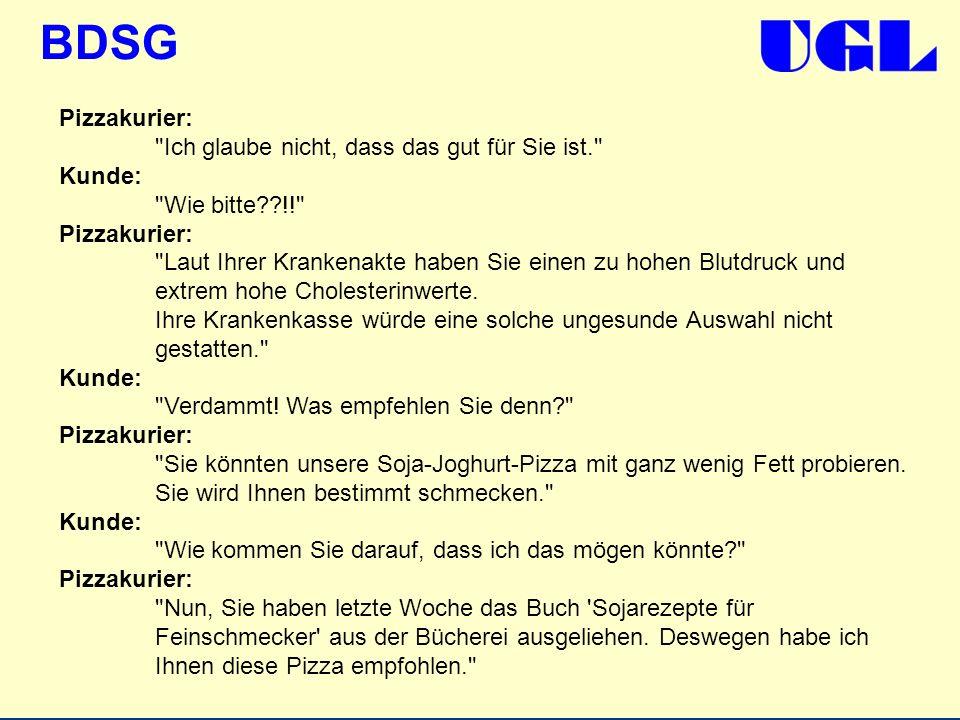 BDSG Pizzakurier: