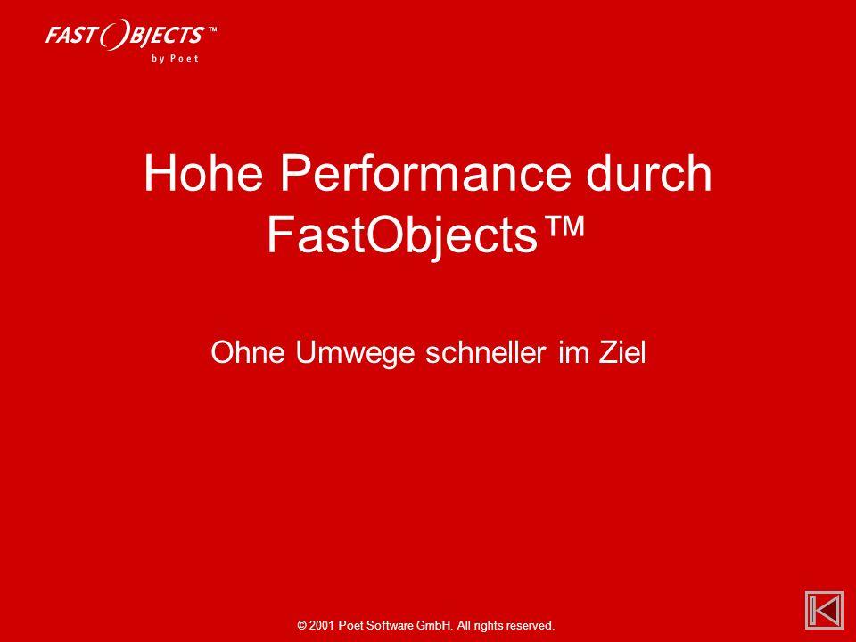 © 2001 Poet Software GmbH. All rights reserved. Hohe Performance durch FastObjects Ohne Umwege schneller im Ziel
