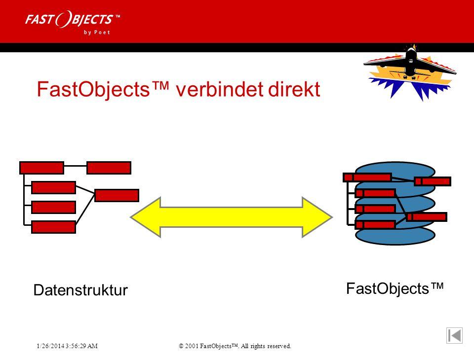 © 2001 FastObjects. All rights reserved. 1/26/2014 3:56:55 AM FastObjects verbindet direkt Datenstruktur FastObjects