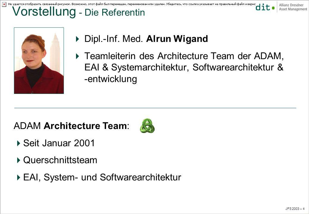 JFS 2003 – 4 Vorstellung - Die Referentin Dipl.-Inf.