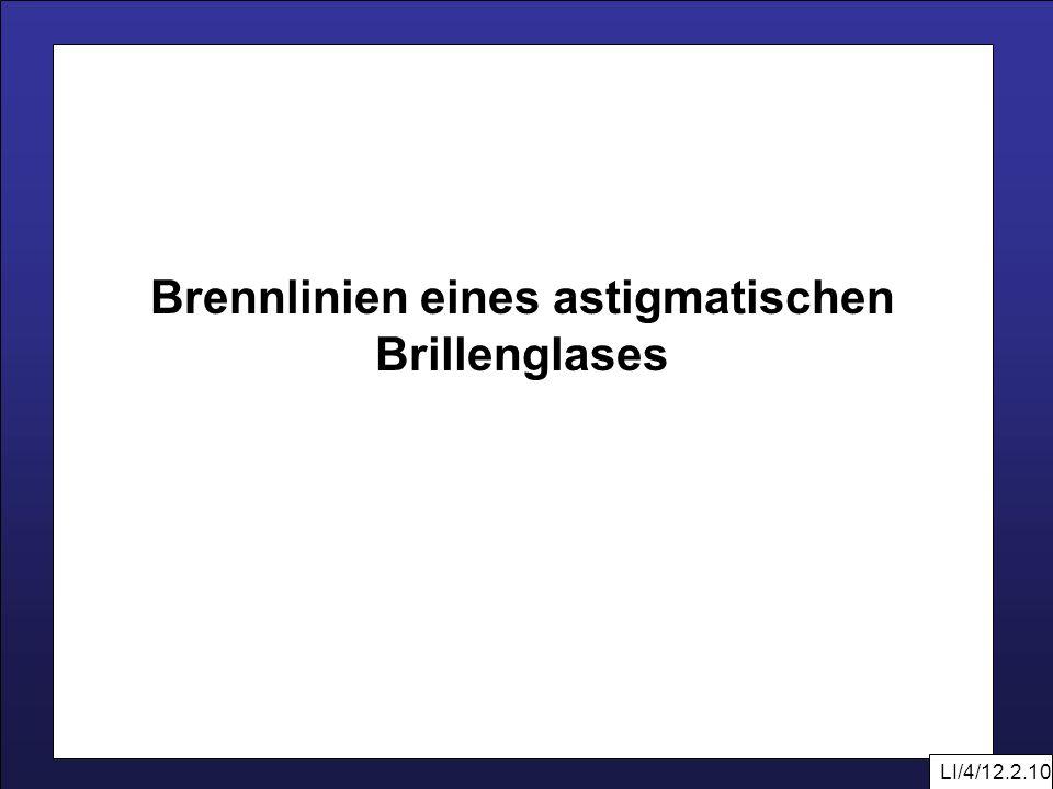 LI/4/12.2.10 Brennlinien eines astigmatischen Brillenglases