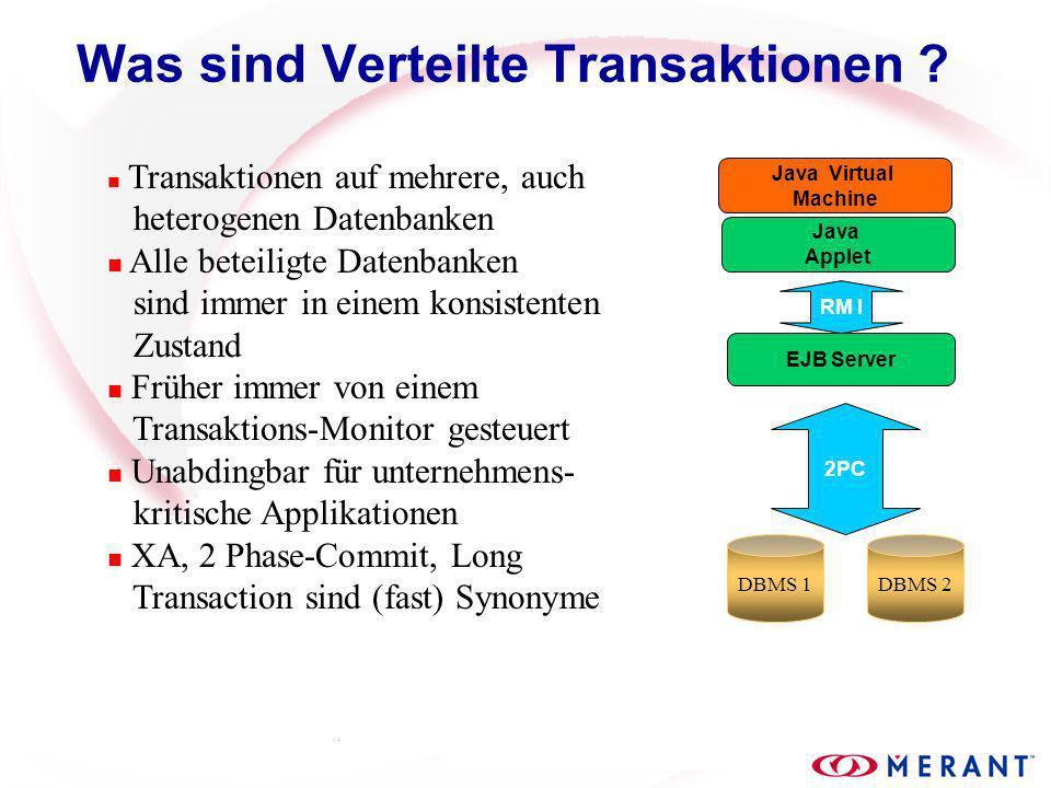 Was sind Verteilte Transaktionen .