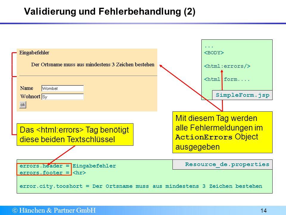 Hänchen & Partner GmbH 14... <html:form....