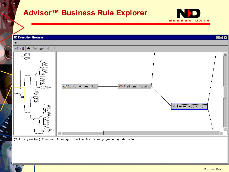 © Neuron Data Advisor Business Rule Explorer