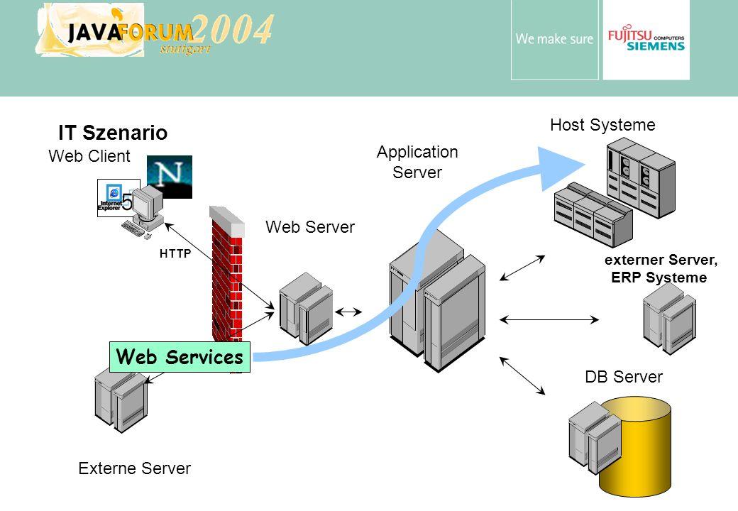 Anton Vorsamer Web Services und Host Anwendungen Host Anwendungen bieten relativ oft geeignete Services / Funktionen Host Anwendungen sprechen i.d.R.