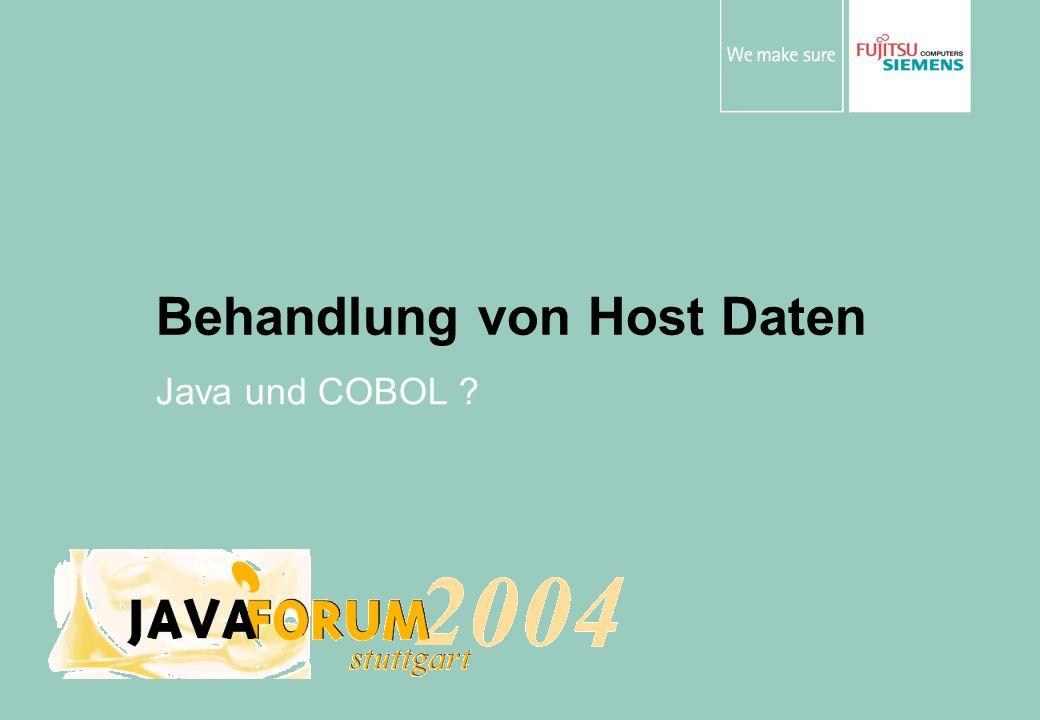 Behandlung von Host Daten Java und COBOL ?