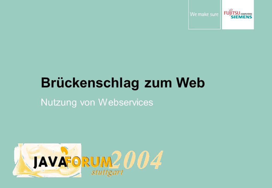 Brückenschlag zum Web Nutzung von Webservices