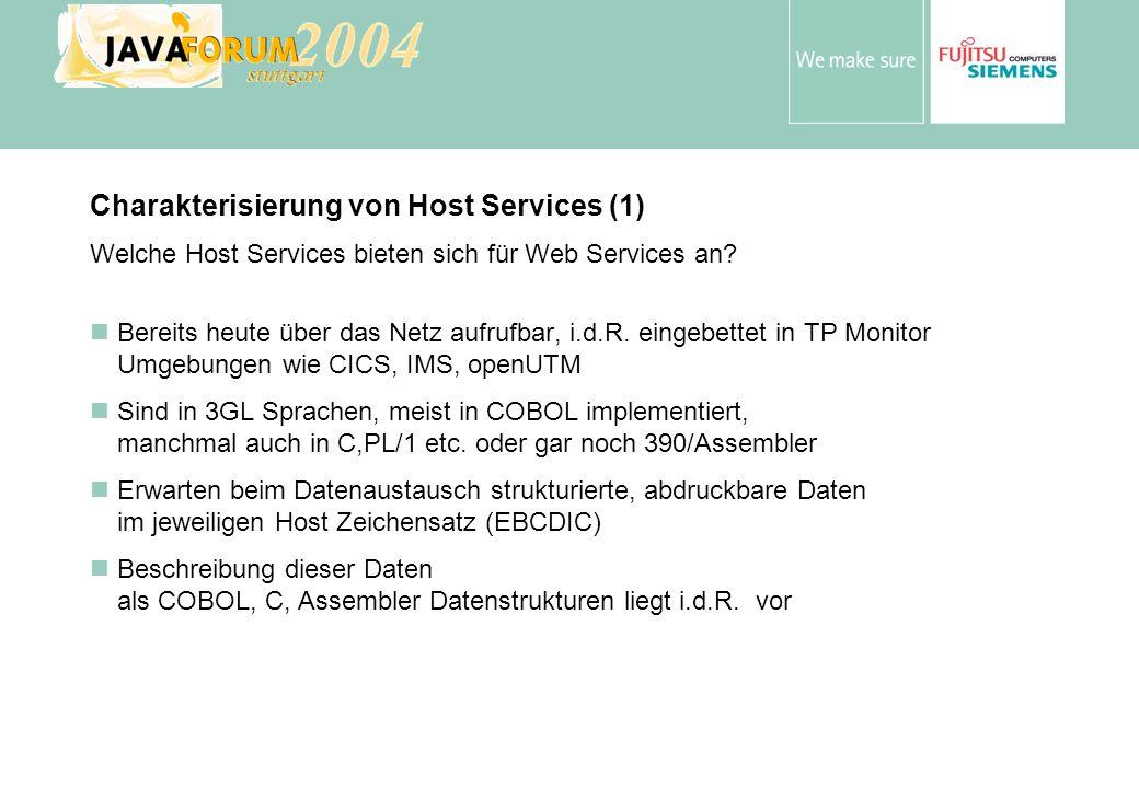 Anton Vorsamer Charakterisierung von Host Services (1) Welche Host Services bieten sich für Web Services an.