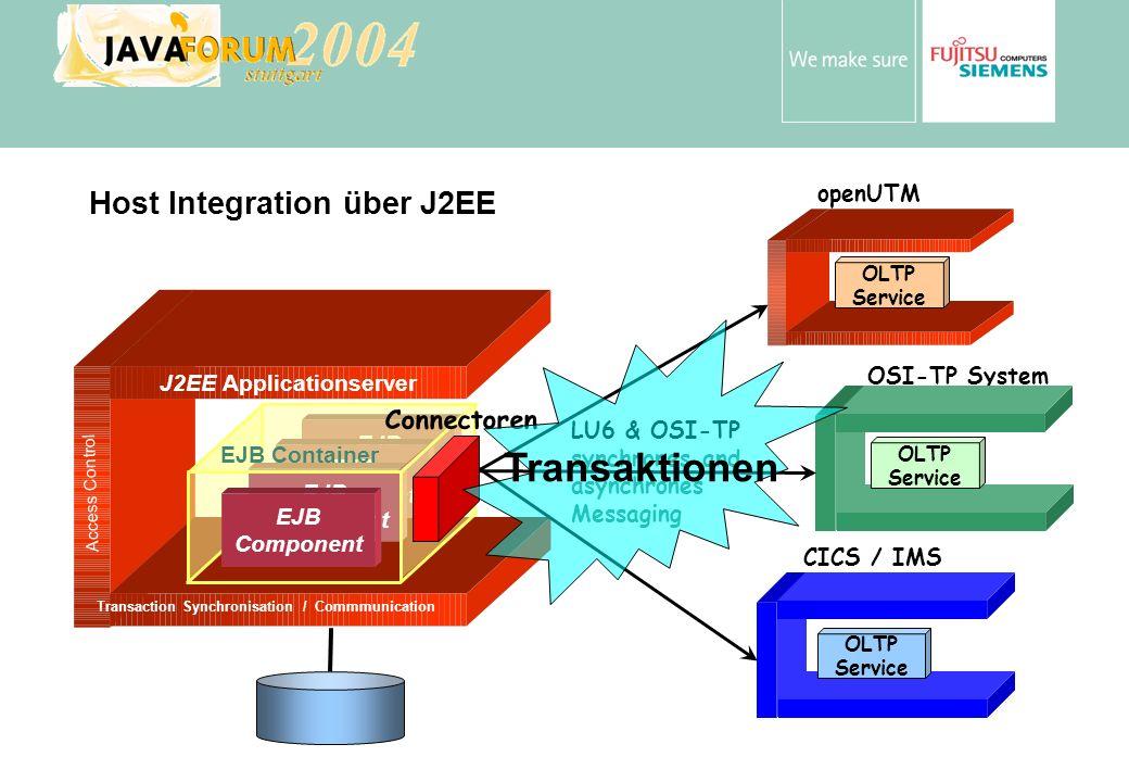 Anton Vorsamer Web Server SOAP Servlet J2EE Client JVM Web Server SOAP Client Web Browser Szenarien OLTP Server Service Program TP Monitor lokales DBMS XA HTTP / SOAP RMI / IIOP Application Server EJB JCA Connector JVM App.