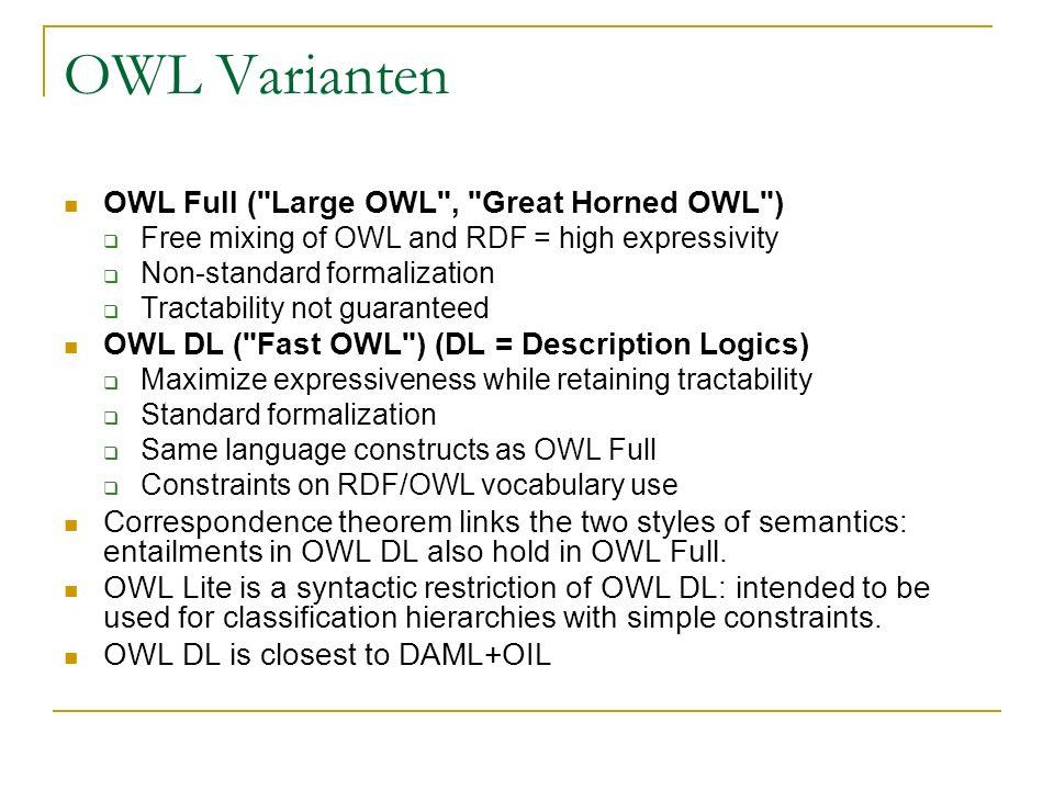 OWL Varianten OWL Full (