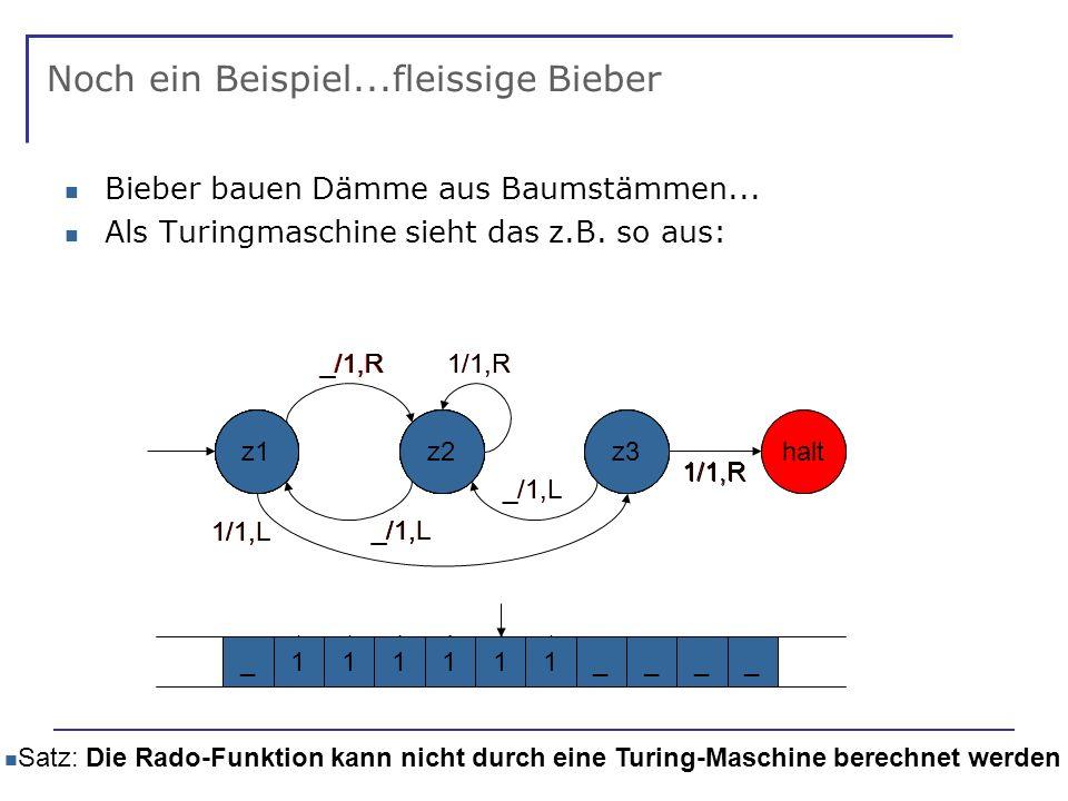 Noch ein Beispiel...fleissige Bieber Bieber bauen Dämme aus Baumstämmen...