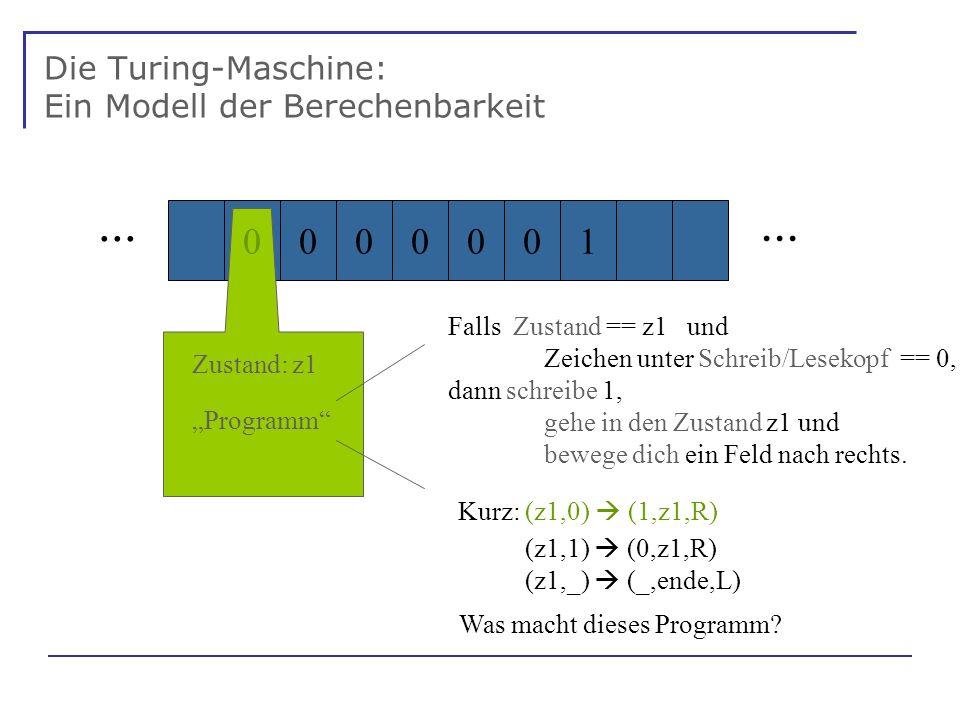 Die Turing-Maschine: Ein Modell der Berechenbarkeit...