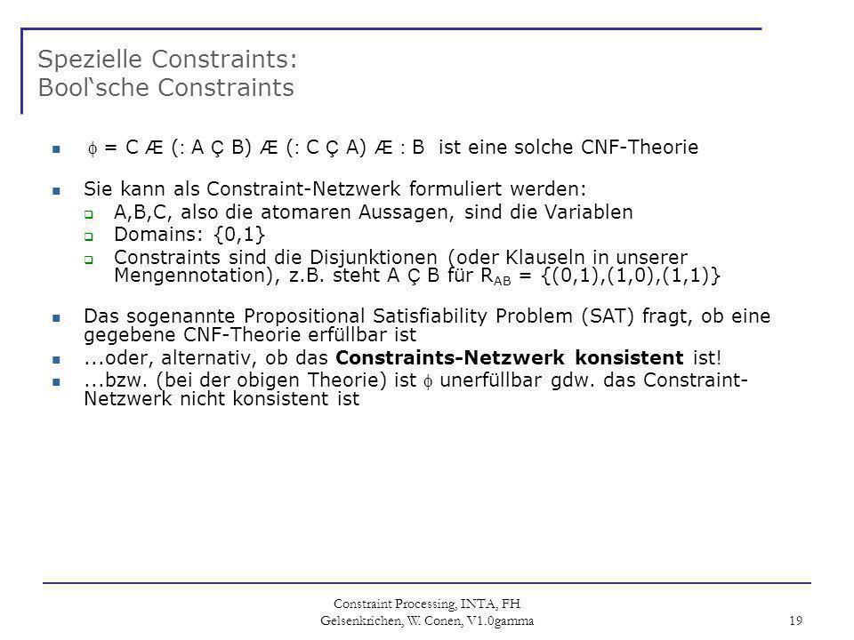 Constraint Processing, INTA, FH Gelsenkrichen, W.