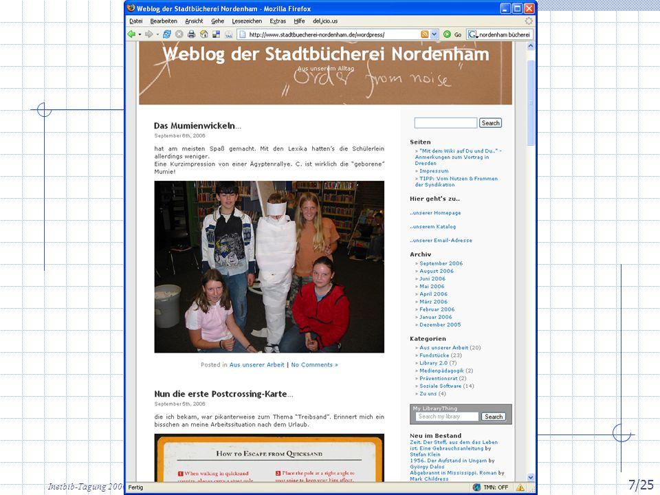 Inetbib-Tagung 2006, Münster 8.9.2006 7/25