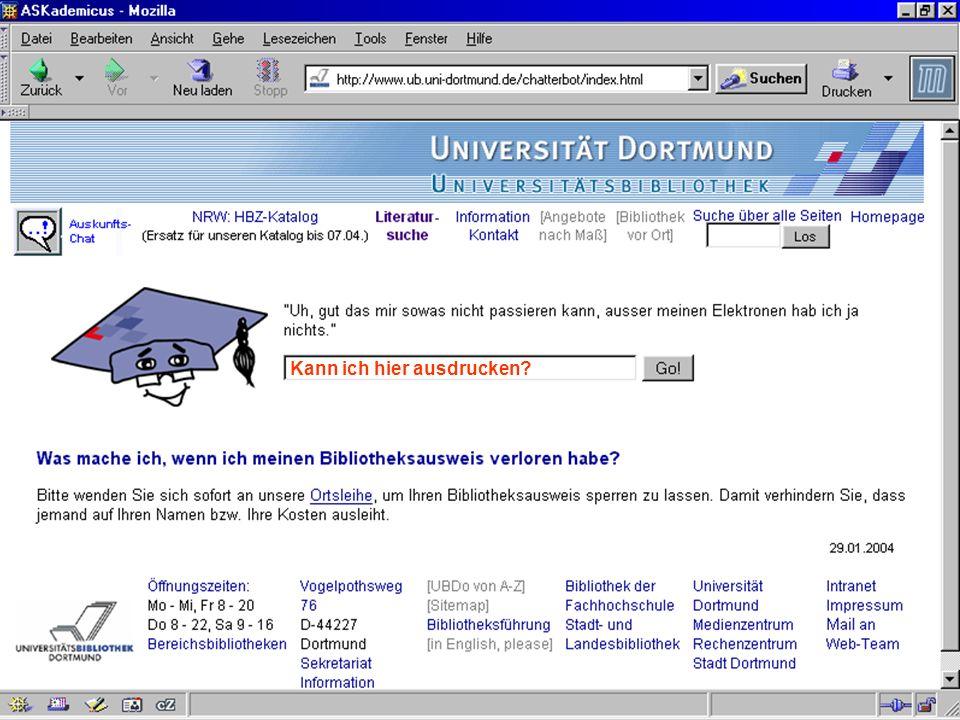 UNIVERSITÄTSBIBLIOTHEK Universitätsbibliothek Kann ich hier ausdrucken?