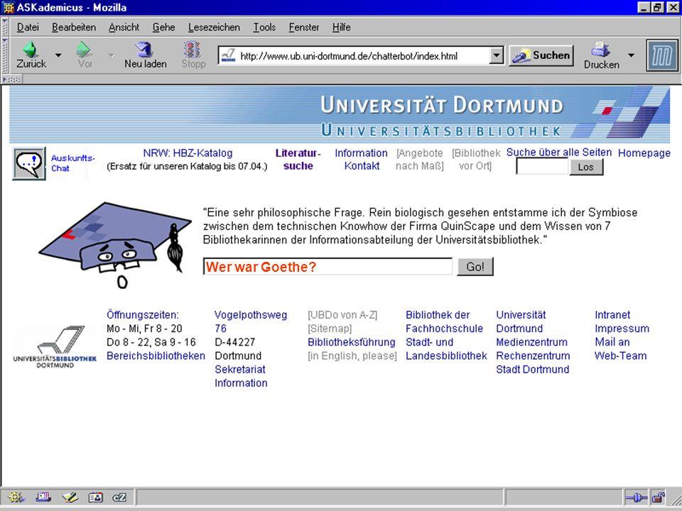 UNIVERSITÄTSBIBLIOTHEK Universitätsbibliothek Wer war Goethe?