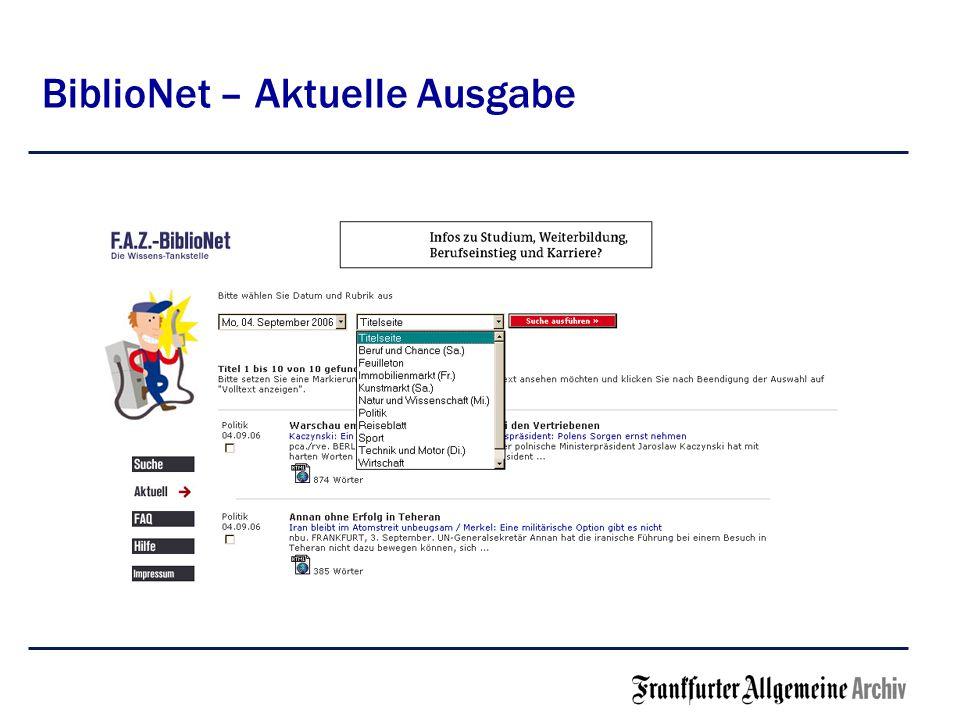 BiblioNet – Einfache Einführung -Kein Installationsaufwand für die Bibliothek -Kein Verwaltungsaufwand -Freischaltung des Bibliothek-Servers /der IP-Adresse -Für Benutzer anmeldefrei -Intuitiv und ohne Einweisung zu nutzen -Einfache Suche in Titeln und Texten -Suchhilfe für erweiterte Suchtechniken wie Phrasen, Wortstamm- Suche und Verknüpfung von Suchbegriffen -Dokument-Ansichten unbegrenzt / Flatrate
