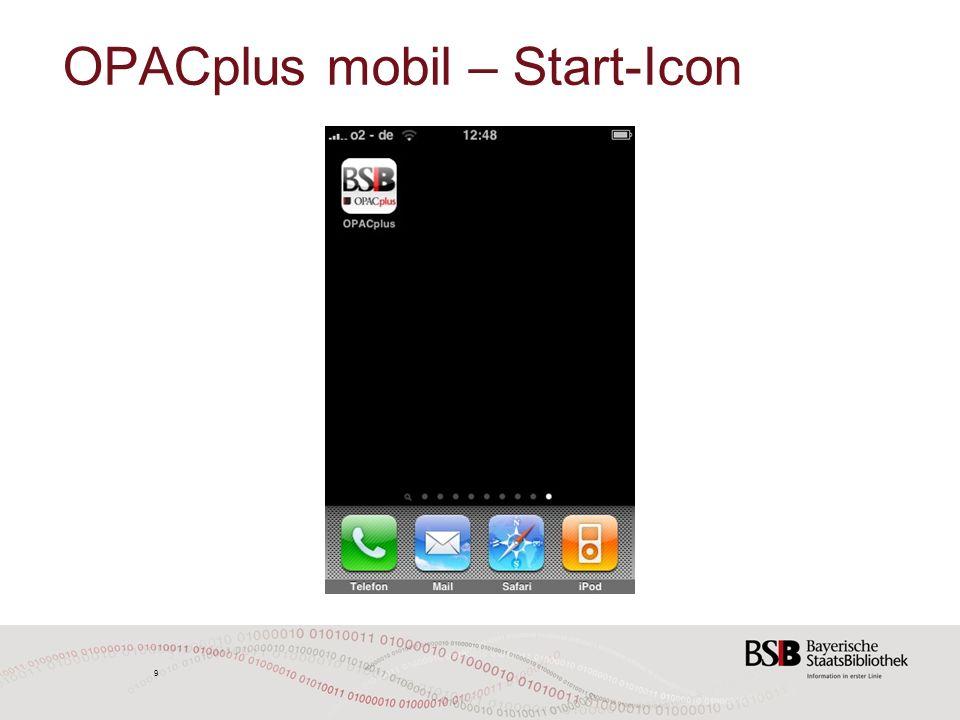 10 OPACplus mobil – Startseite und Navigation