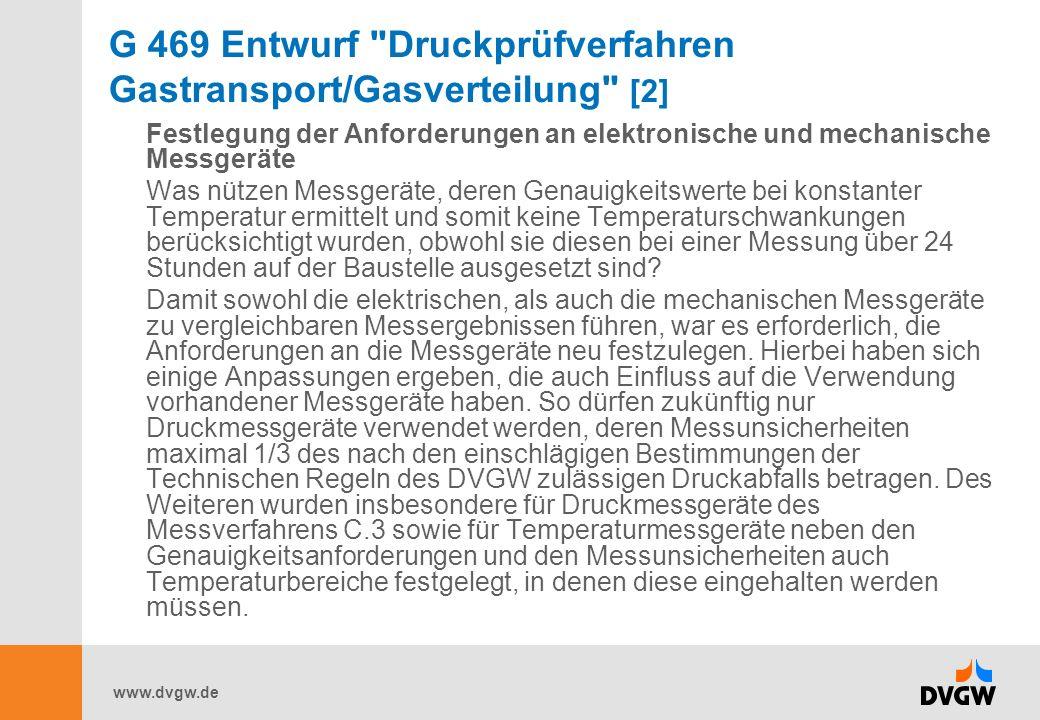 www.dvgw.de G 469 Entwurf