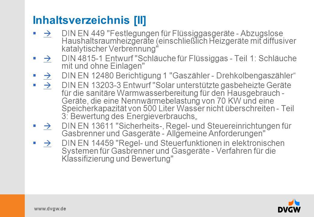 www.dvgw.de Inhaltsverzeichnis [II] DIN EN 449