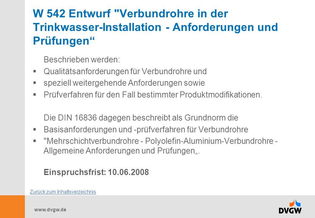 www.dvgw.de W 542 Entwurf