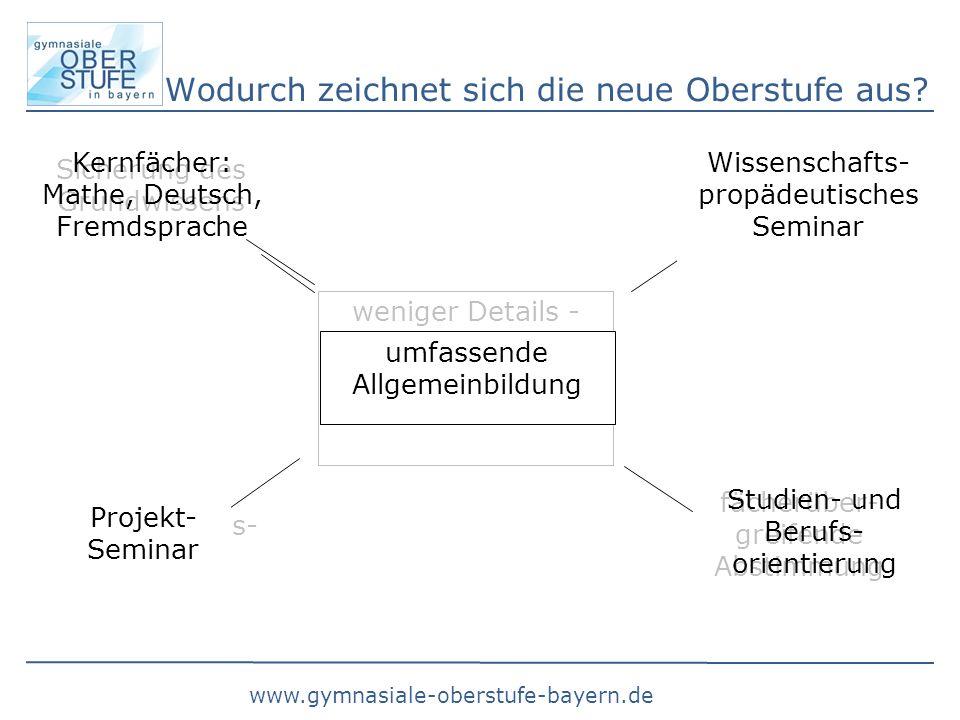 www.gymnasiale-oberstufe-bayern.de Wodurch zeichnet sich die neue Oberstufe aus.
