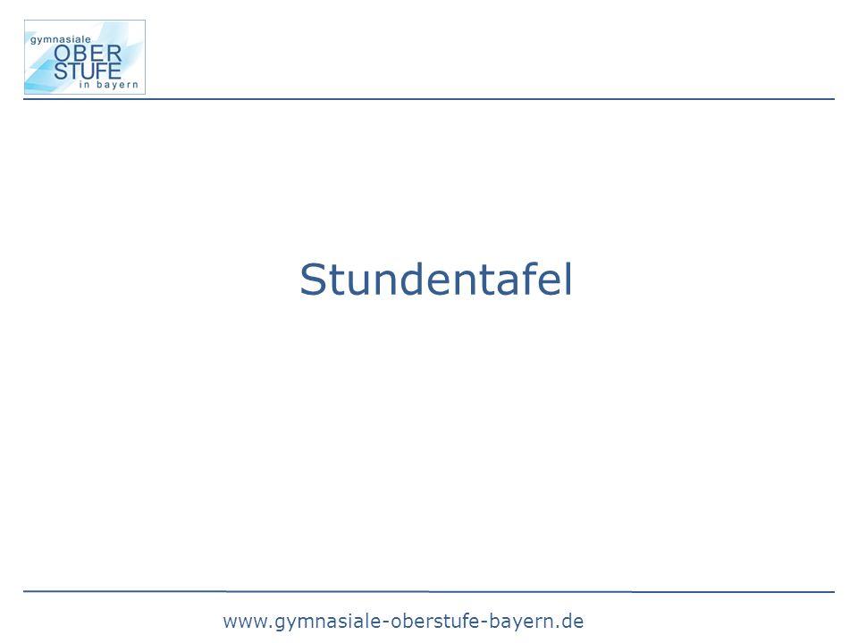 www.gymnasiale-oberstufe-bayern.de Stundentafel