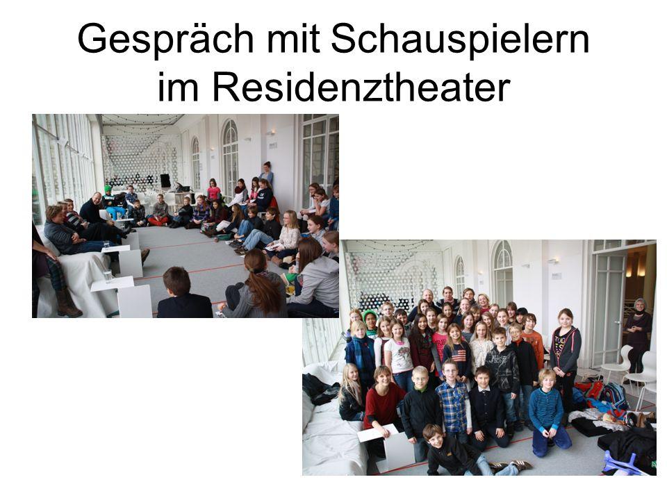 Gespräch mit Schauspielern im Residenztheater