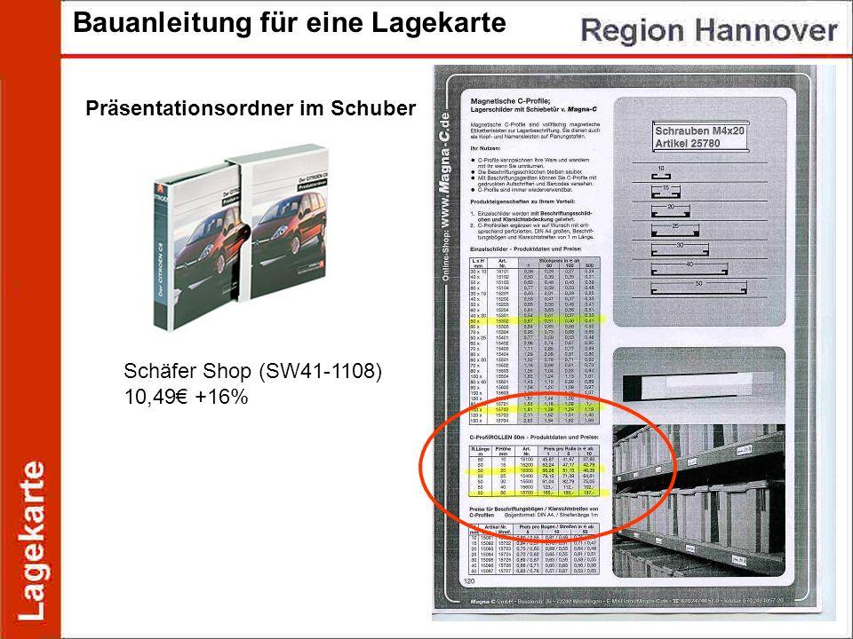 Bauanleitung für eine Lagekarte Schäfer Shop (SW41-1108) 10,49 +16% Präsentationsordner im Schuber