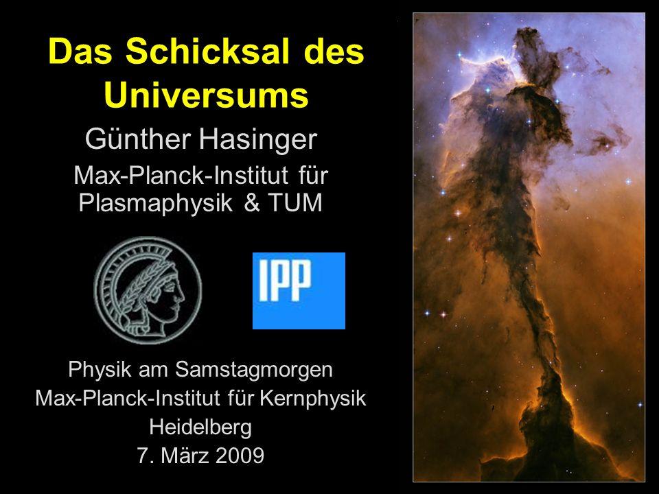 Günther Hasinger Max-Planck-Institut für Plasmaphysik & TUM Physik am Samstagmorgen Max-Planck-Institut für Kernphysik Heidelberg 7.
