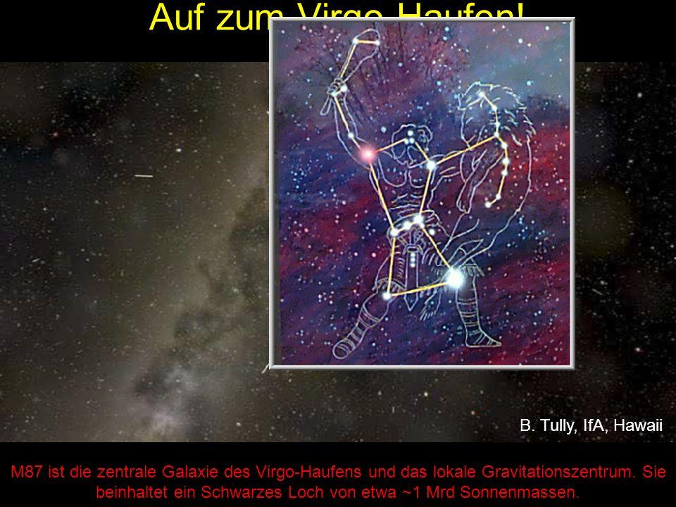 M87 ist die zentrale Galaxie des Virgo-Haufens und das lokale Gravitationszentrum.