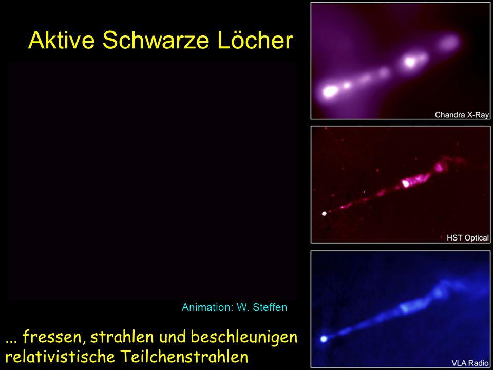 Aktive Schwarze Löcher Animation: W.Steffen...