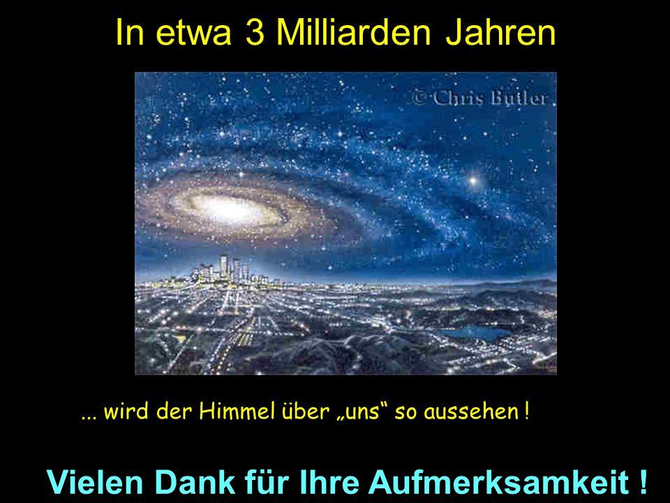 Milchstraße Andromeda-Nebel In etwa 3 Milliarden Jahren...