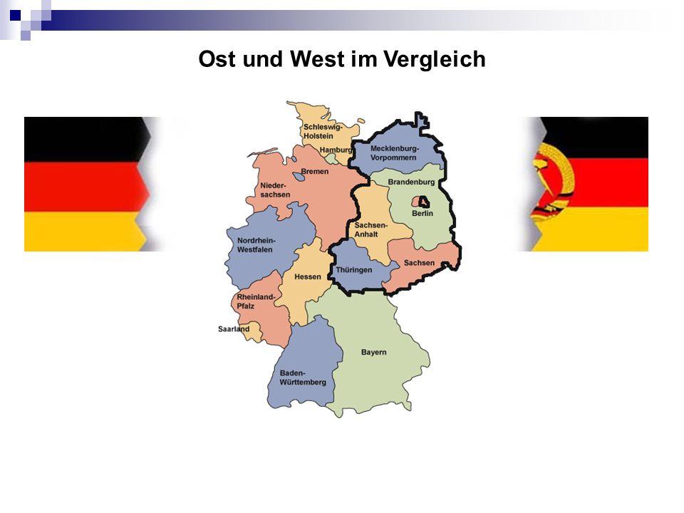Ost und West im Vergleich