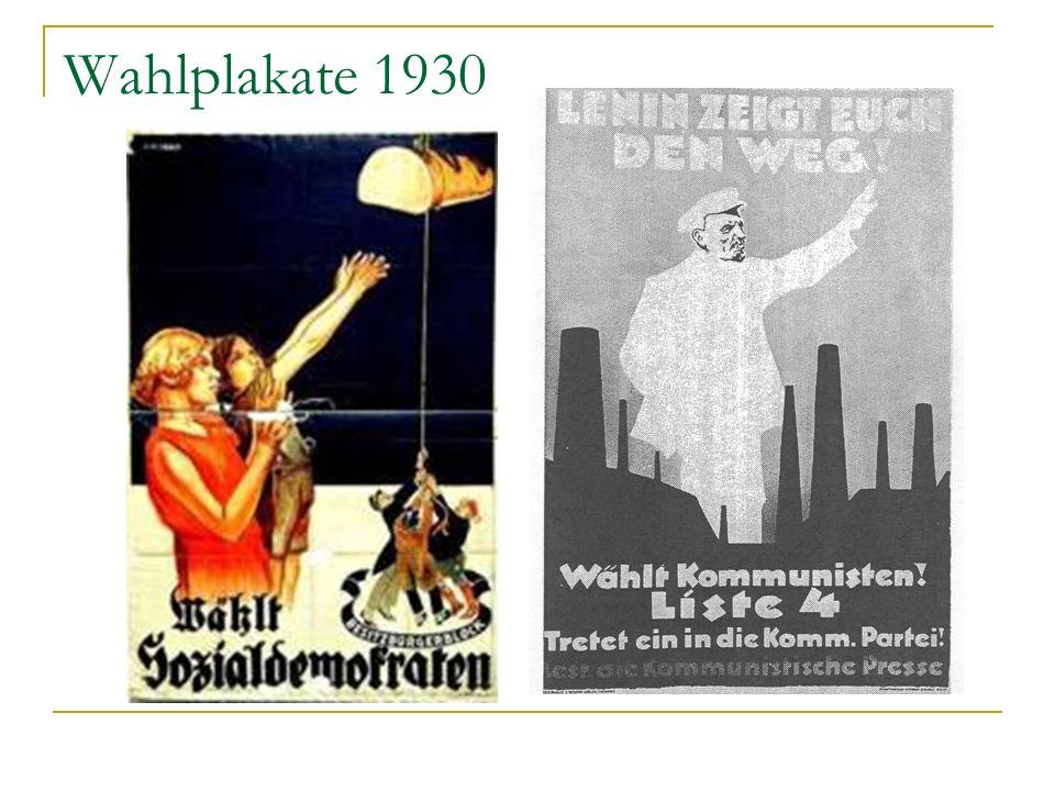 Wahlplakate 1930