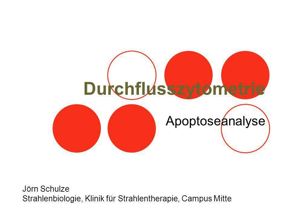 Durchflusszytometrie Apoptoseanalyse Jörn Schulze Strahlenbiologie, Klinik für Strahlentherapie, Campus Mitte