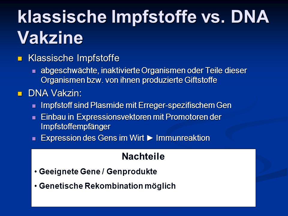 klassische Impfstoffe vs.