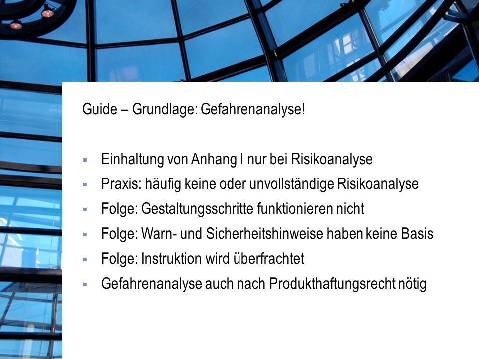 Guide – Grundlage: Gefahrenanalyse.