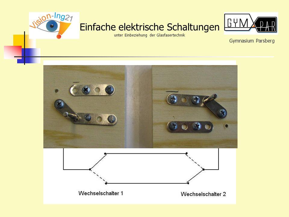 Gymnasium Parsberg Einfache elektrische Schaltungen unter Einbeziehung der Glasfasertechnik Lösung