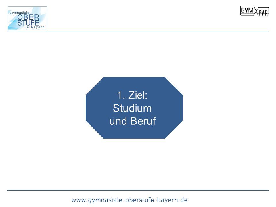 www.gymnasiale-oberstufe-bayern.de 1. Ziel: Studium und Beruf