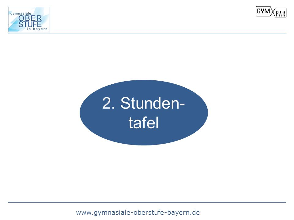 www.gymnasiale-oberstufe-bayern.de 2. Stunden- tafel