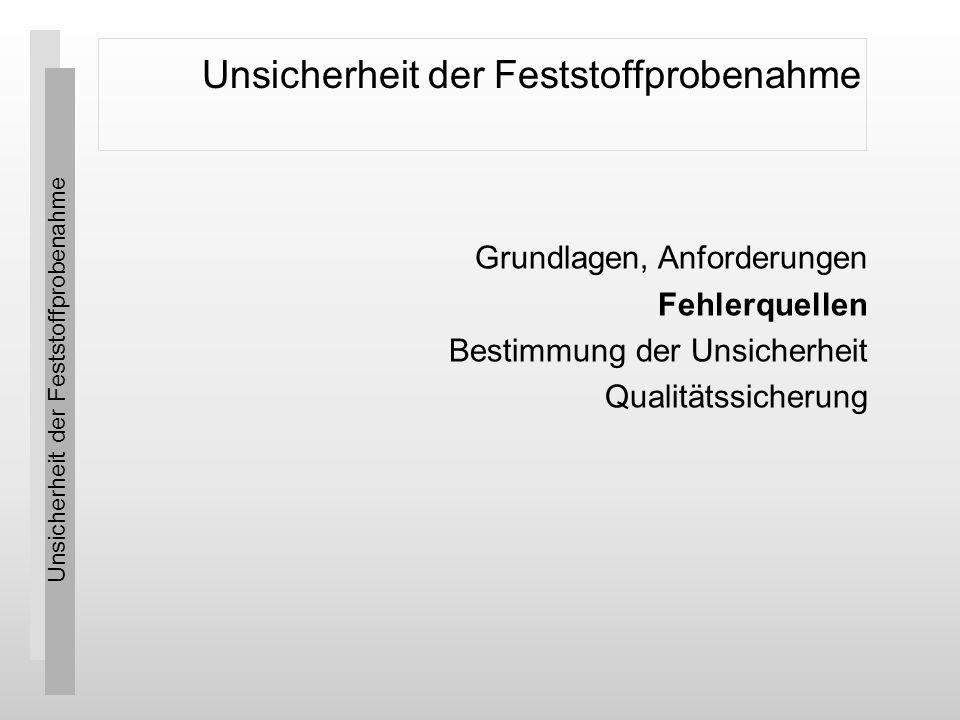 Unsicherheit der Feststoffprobenahme Qualitätssicherung © SpiCon GmbH 28 Generell lassen sich zu den Betrachtungen zur Gesamtunsicherheit der Probenahme zwei grundsätzliche Aussagen festhalten: Je größer die Probenmasse, desto kleiner der fundamentale Fehler und Je größer die Homogenität, desto kleiner der Gruppierungs- und Segregationsfehler.