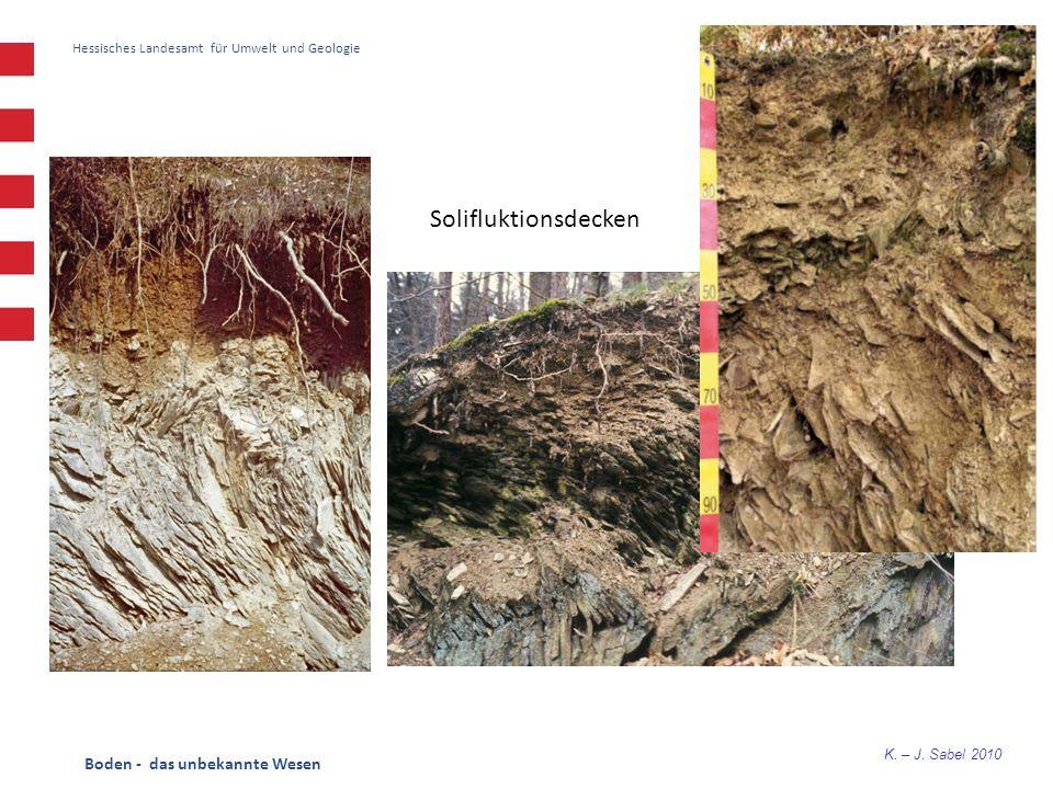 K. – J. Sabel 2010 Hessisches Landesamt für Umwelt und Geologie Solifluktionsdecken Boden - das unbekannte Wesen
