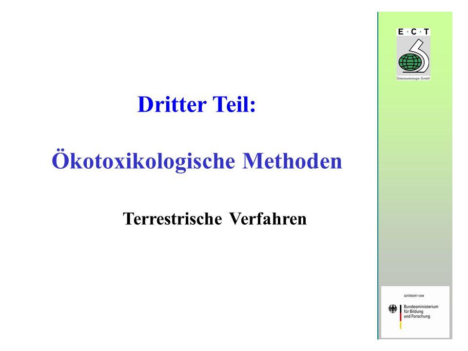 Dritter Teil: Ökotoxikologische Methoden Terrestrische Verfahren