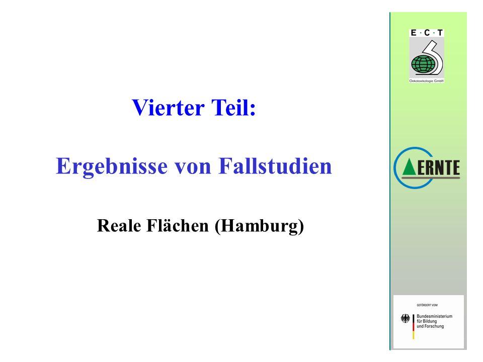 Vierter Teil: Ergebnisse von Fallstudien Reale Flächen (Hamburg)