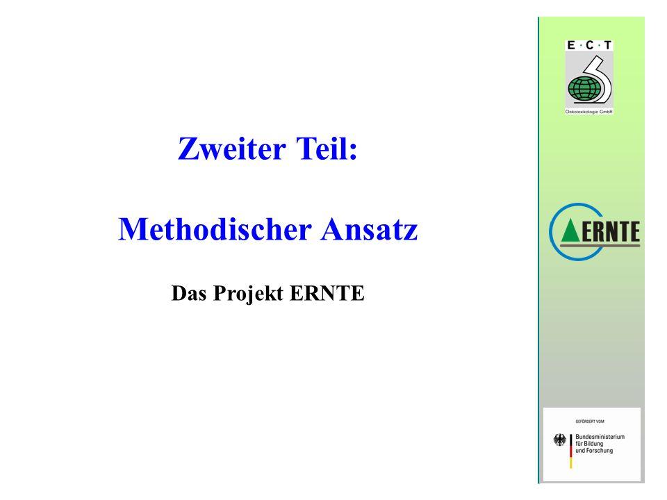 Zweiter Teil: Methodischer Ansatz Das Projekt ERNTE