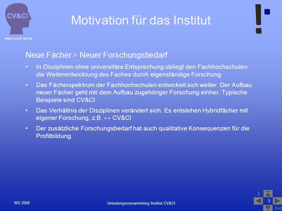 2 End www.cvci.fh-swf.de Gründungsversammlung Institut CV&CI WS 2008 4 Bologna > Forschungsbezug des 2.